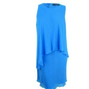 Ralph Lauren Georgette Overlay Shift Dress